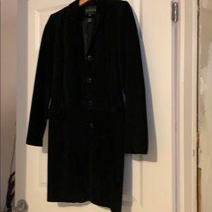 Suede jacket / blazer. Danier. Black. Xsmall